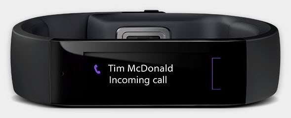 Figure: With the Microsoft Band 2, you can keep your phone on vibrate 100% of the time and never have to worry about interrupting others with your ringing phone