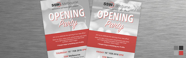 Hey Melbourne and Brisbane, you're invited to a party!